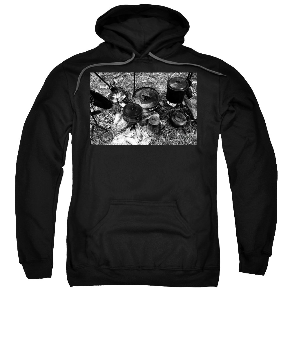 Cooking Sweatshirt featuring the photograph Cowboy Cooking by David Lee Thompson