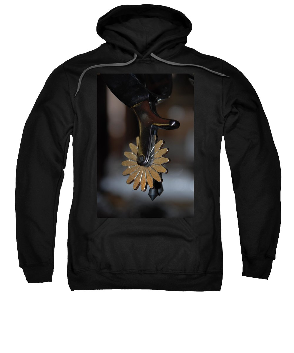 Photography Sweatshirt featuring the photograph Cowboy Spurs by Susanne Van Hulst