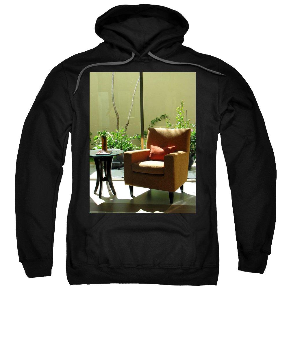 Spa Sweatshirt featuring the photograph Cozy Corner by Angel Bentley