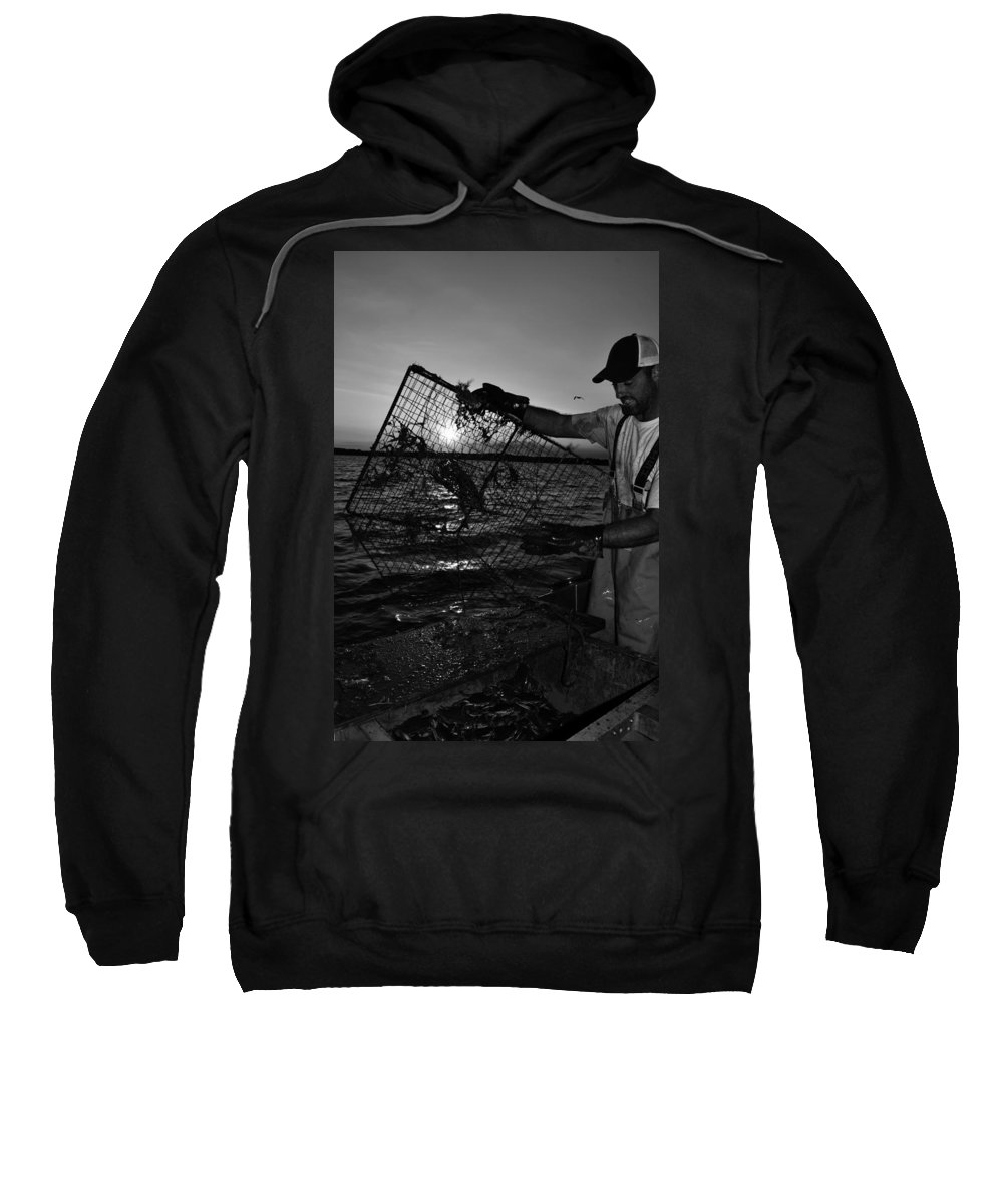 Crabbing Sweatshirt featuring the photograph Crabbing On The Potomac by La Dolce Vita
