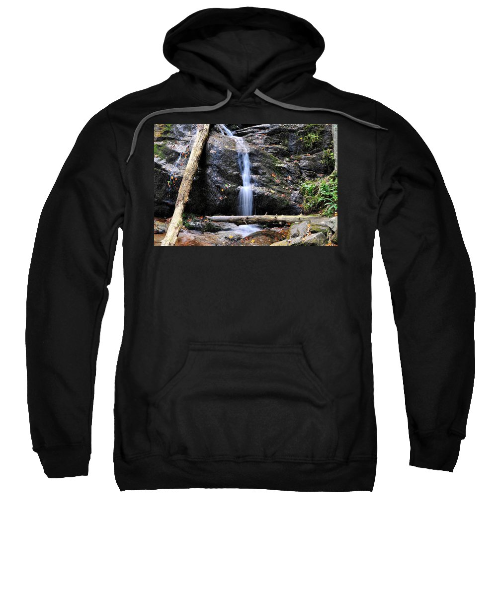 Crabtree Falls Sweatshirt featuring the photograph Crabtree Falls In Fall by Todd Hostetter