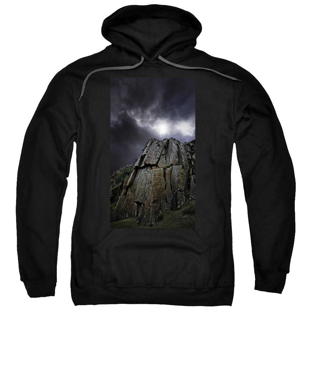 Rock Sweatshirt featuring the photograph Crags by Meirion Matthias