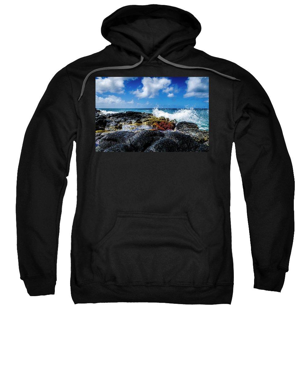 Ocean Sweatshirt featuring the photograph Crashing Waves by Daniel Murphy