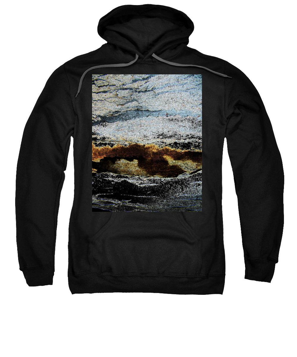 Abstract Sweatshirt featuring the photograph Crater Island by Lenore Senior