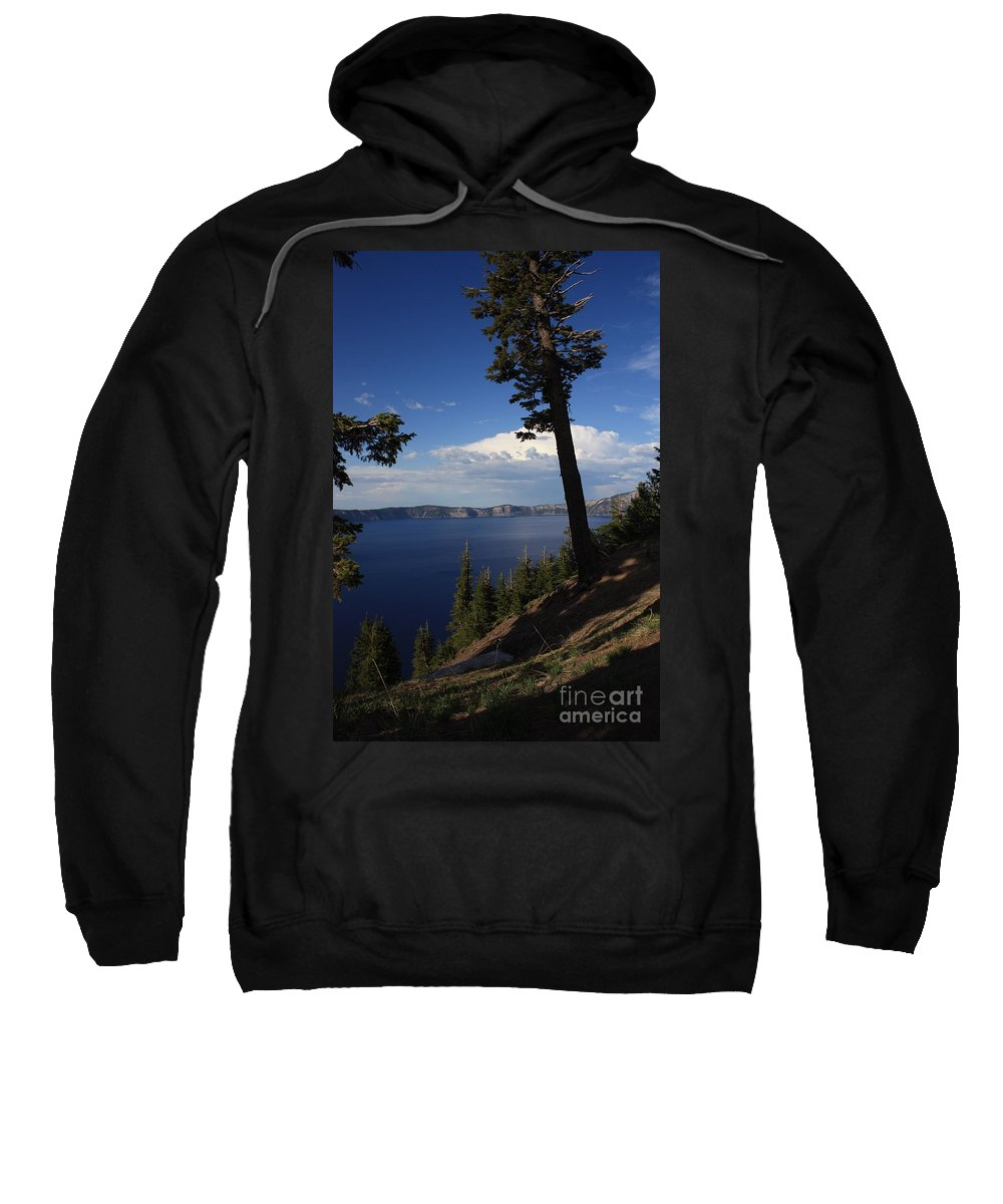 Landscape Sweatshirt featuring the photograph Crater Lake 7 by Carol Groenen