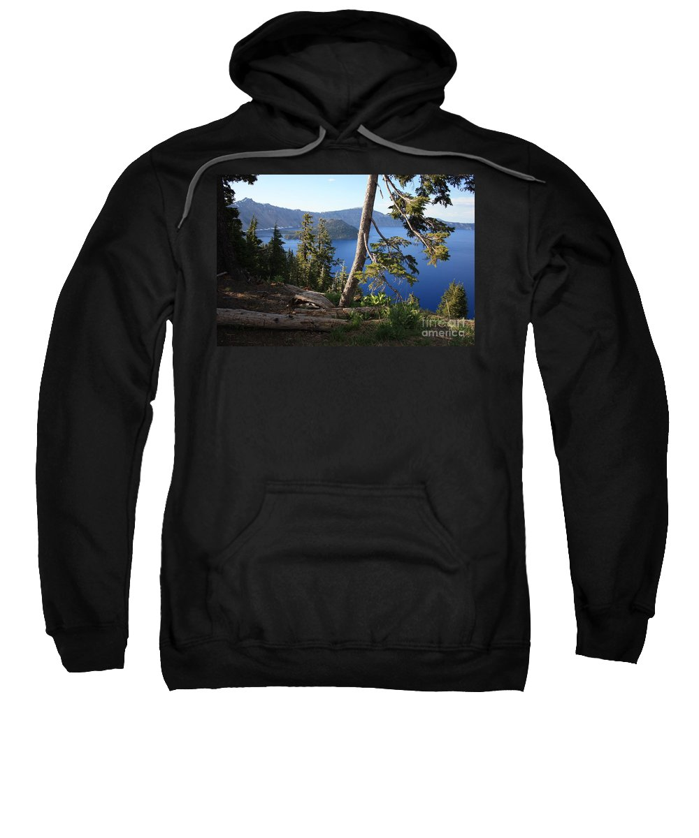 Crater Lake Sweatshirt featuring the photograph Crater Lake 9 by Carol Groenen