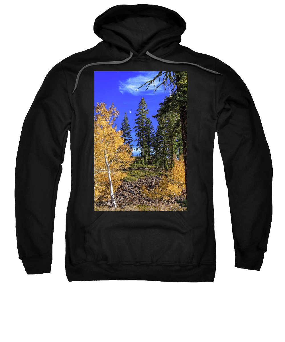 Landscape Sweatshirt featuring the photograph Crater Moon by James Eddy