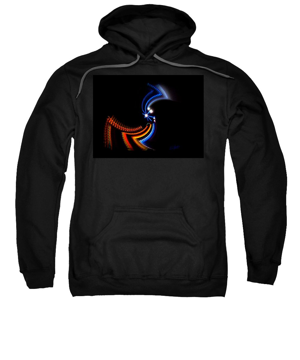 Chaos Sweatshirt featuring the photograph Crazy Dancer by Charles Stuart