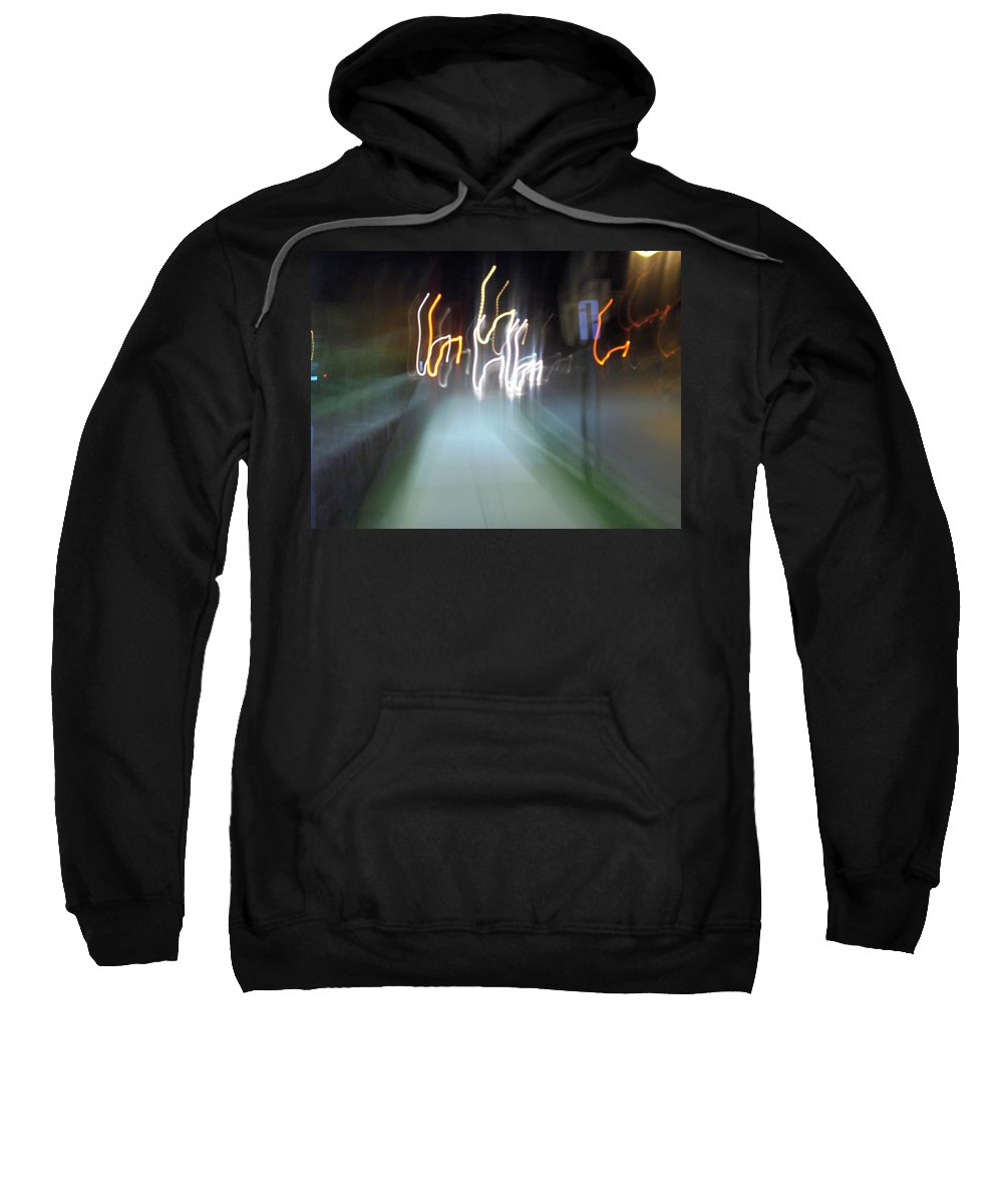 Photograph Sweatshirt featuring the photograph Crazy Lights by Thomas Valentine