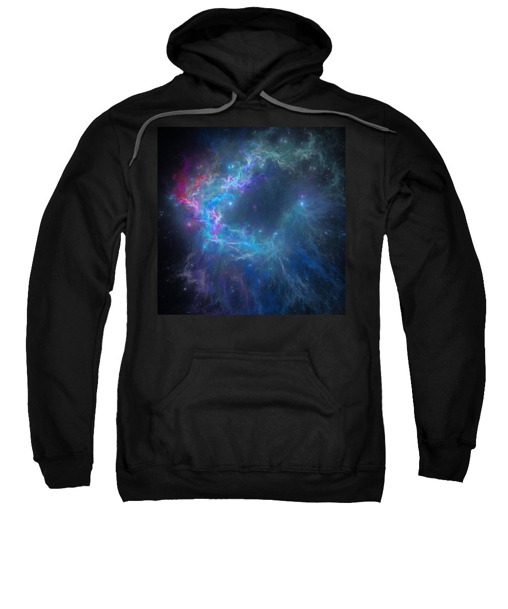 Space Sweatshirt featuring the digital art Creation by Ivan Kendrick