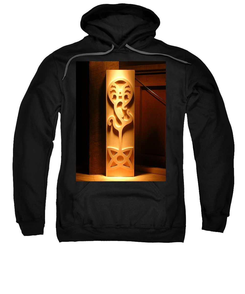 Creation Sweatshirt featuring the sculpture Creation by Jack Harries