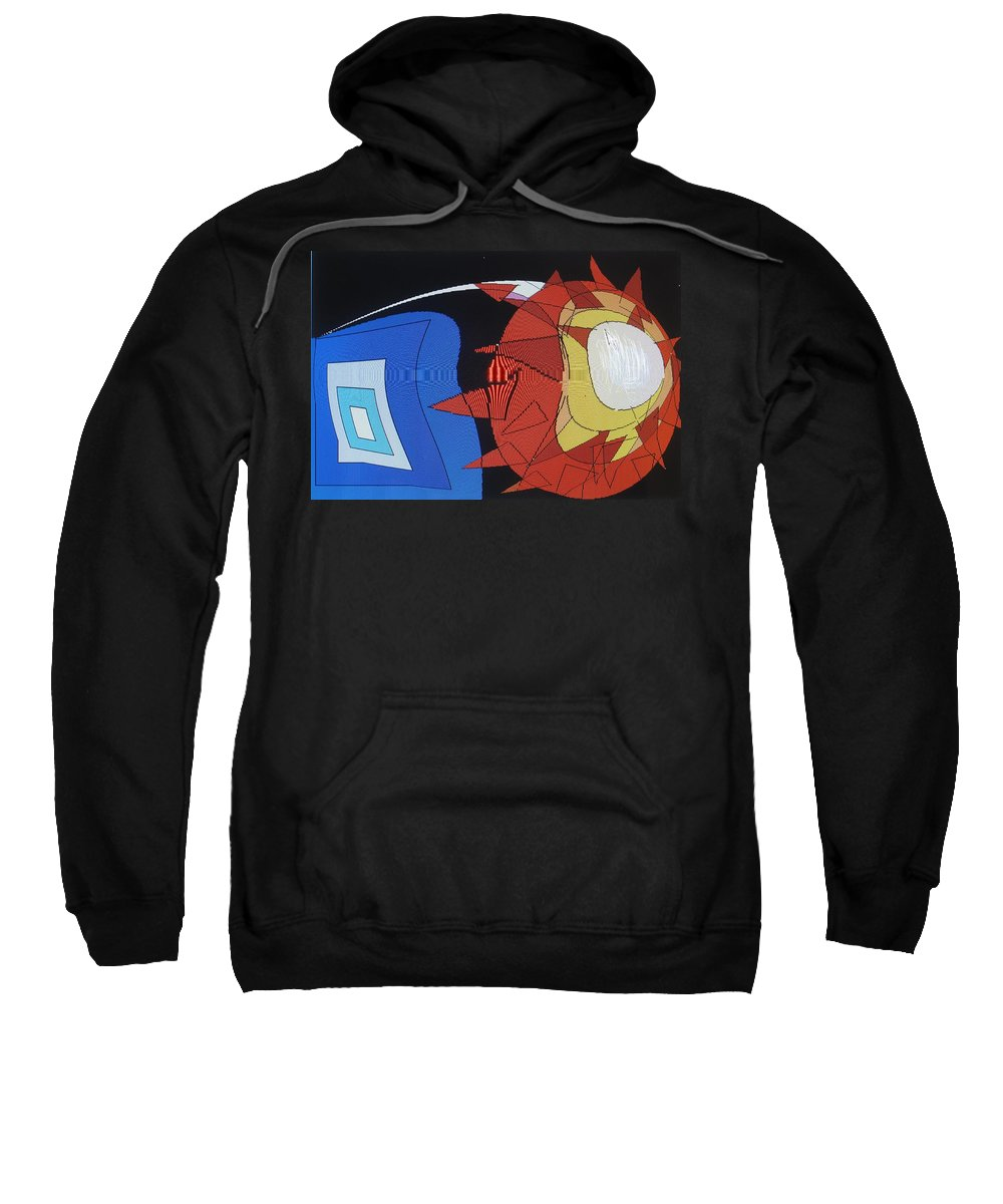 Abstract Sweatshirt featuring the digital art Crescendo One by Ian MacDonald