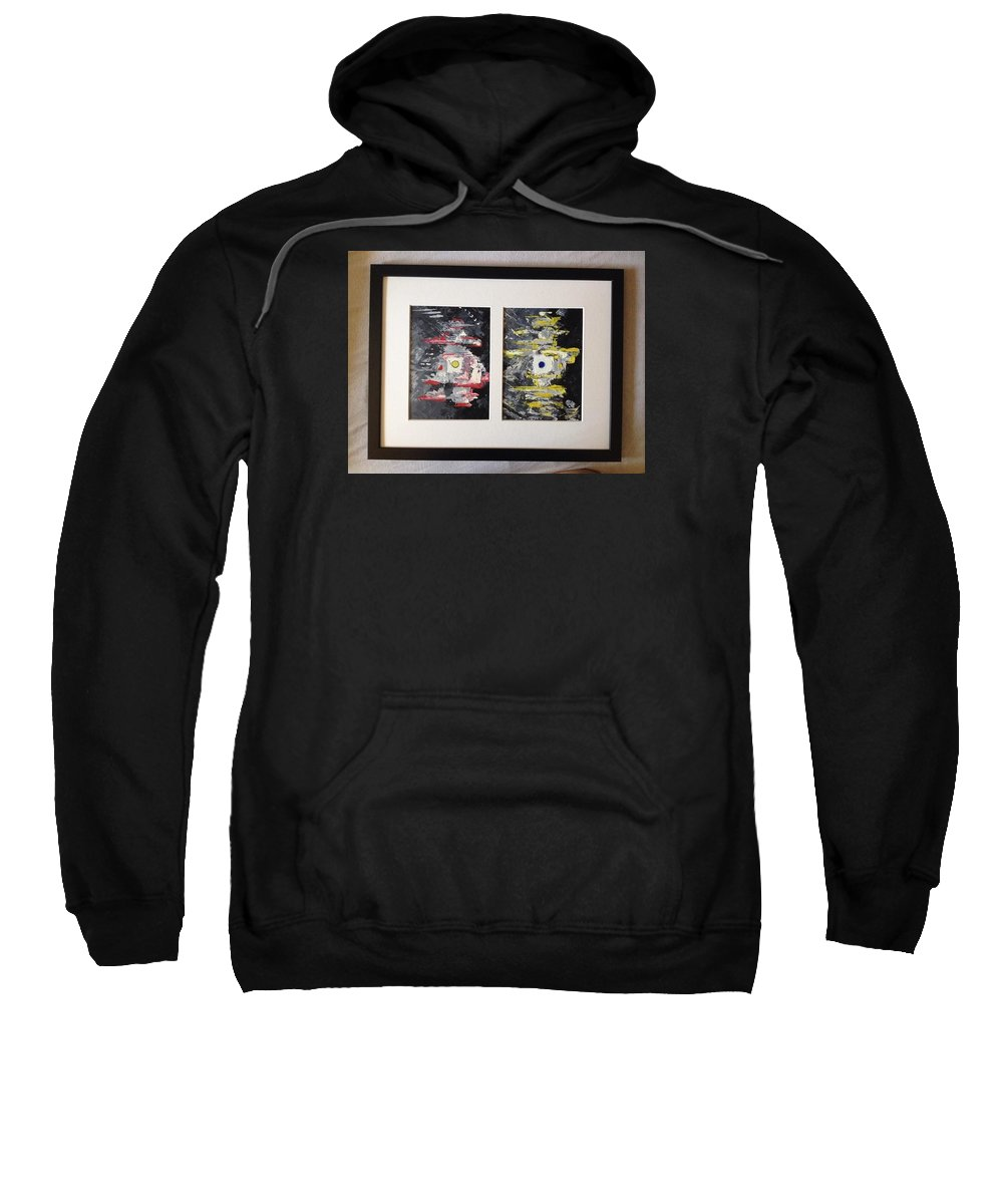 Phenomenon Noumenon Philosophy Immanuel Kant Oil Abstract Expressionism Sweatshirt featuring the painting Critique Of Pure Reason by Costin Tudor