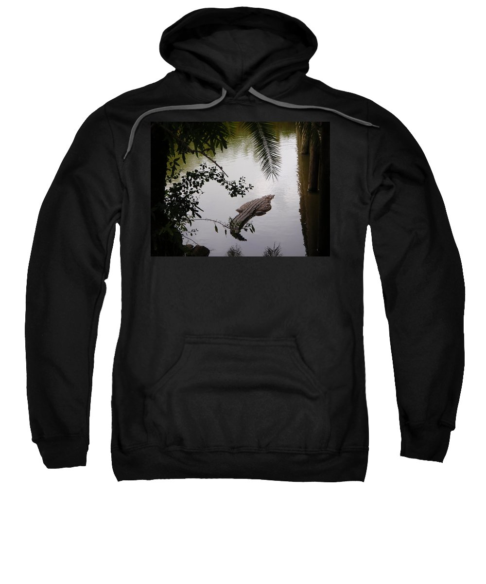 Croco Sweatshirt featuring the photograph Croco by Are Lund