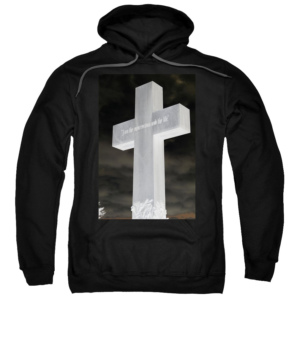 Statue Sweatshirt featuring the photograph Cross Your Statues by Erin Rosenblum