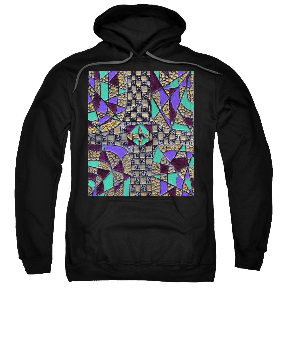 Abstract Sweatshirt featuring the painting Crossing Over by Wayne Potrafka