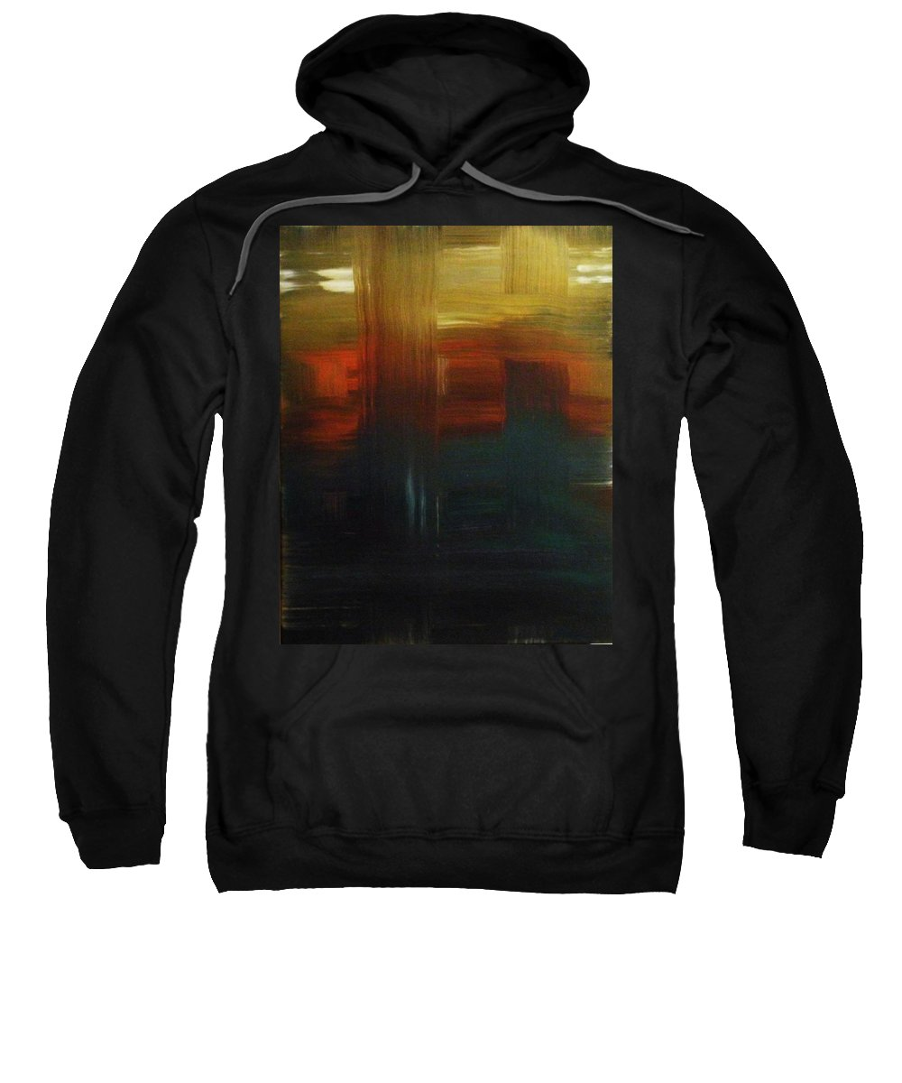 Abstract Sweatshirt featuring the painting Crossroads by Todd Hoover