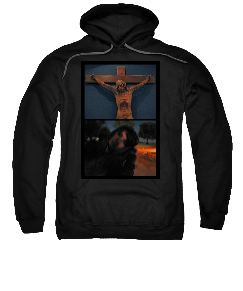 Crucifixion Sweatshirt featuring the photograph Crucifixion by James W Johnson
