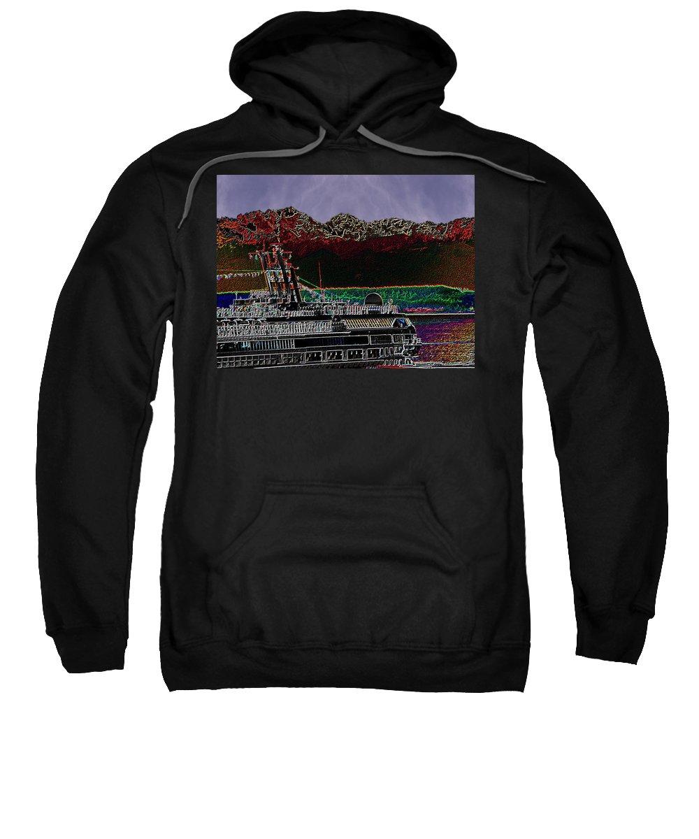 Seattle Sweatshirt featuring the digital art Cruising Puget Sound by Tim Allen