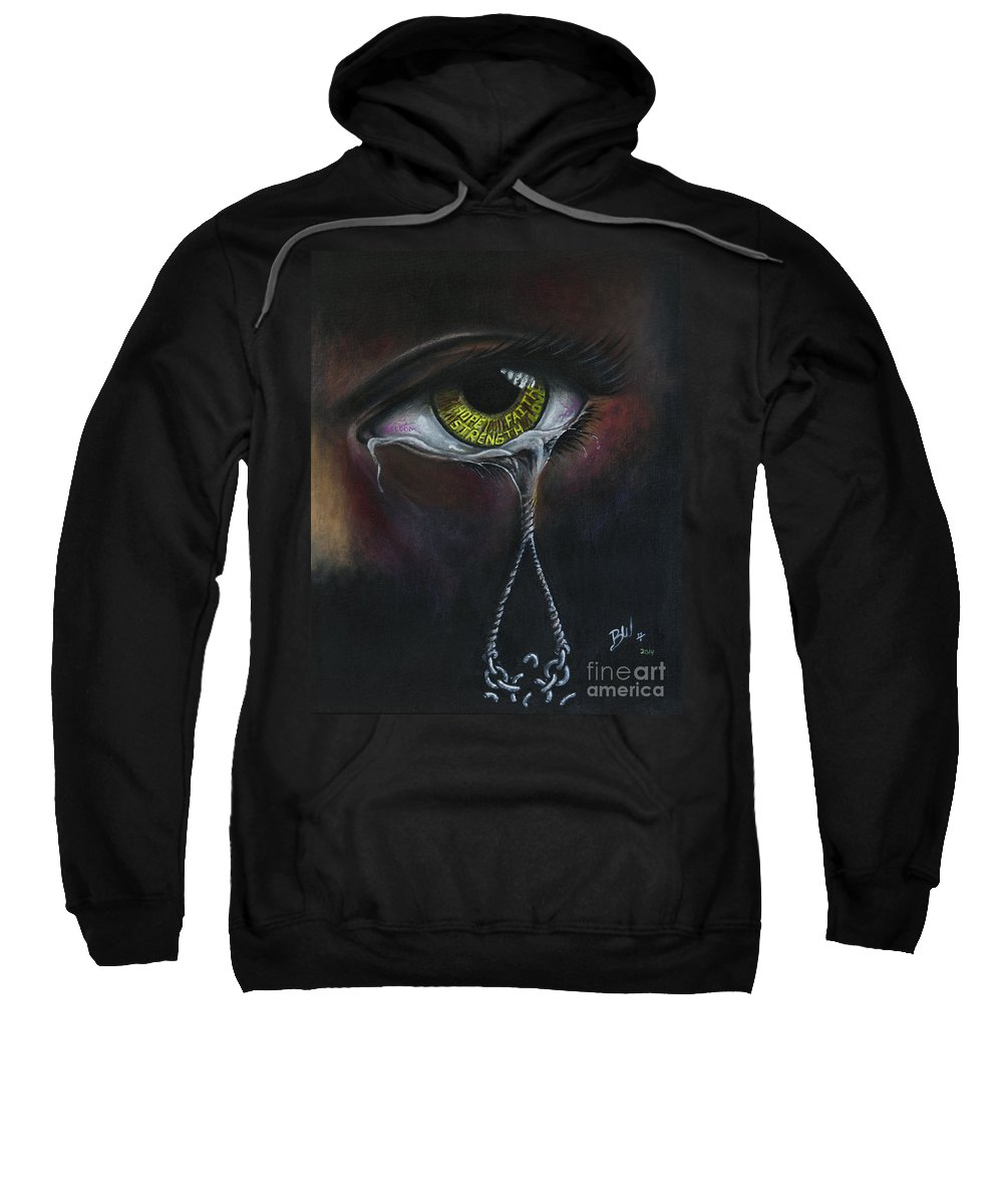 Oil Pastels Sweatshirt featuring the painting Cry No More by Bobby Wheeler
