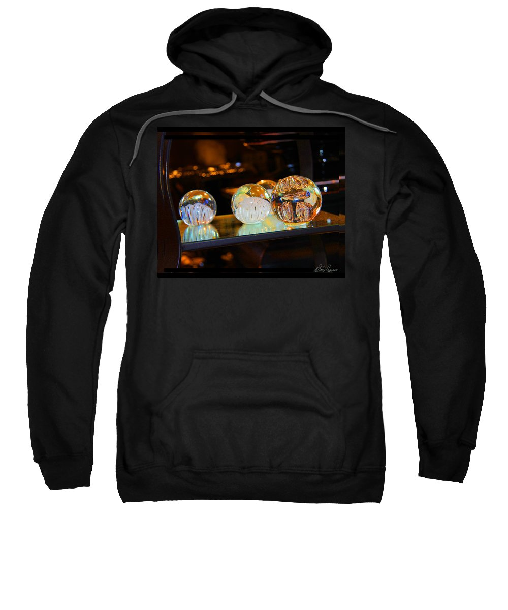 Crystal Sweatshirt featuring the photograph Crystal Balls by Diana Haronis