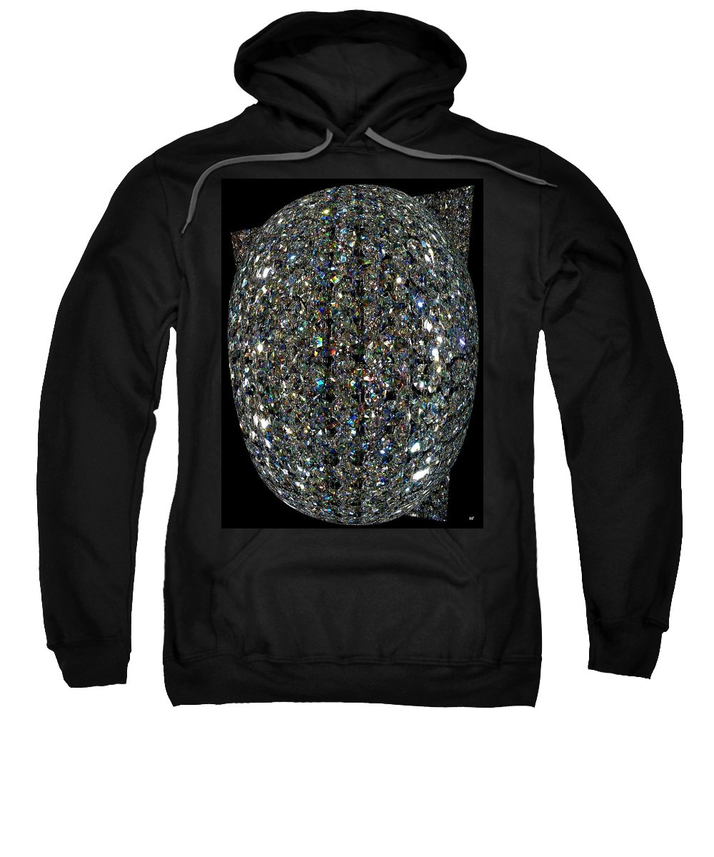 Crystal Sweatshirt featuring the digital art Crystal Cool by Will Borden