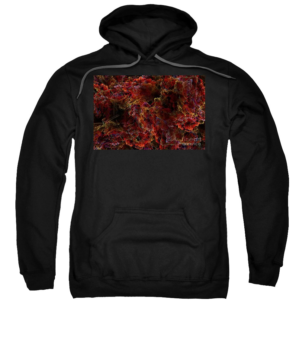 Abstract Art Sweatshirt featuring the digital art Crystal Inspiration Number Two Close Up by Olga Hamilton