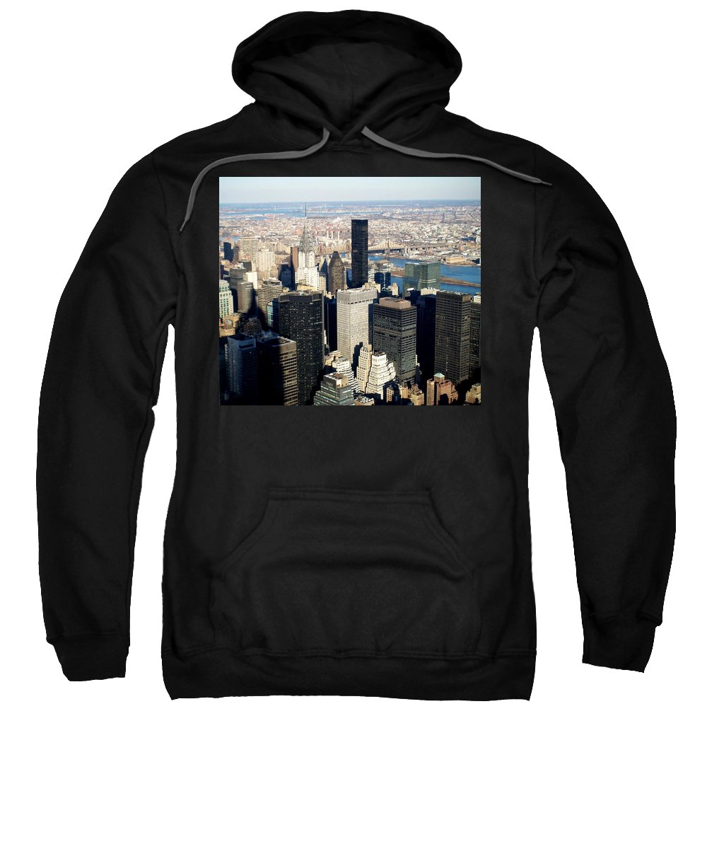 Crystler Building Sweatshirt featuring the photograph Crystler Building 2 by Anita Burgermeister