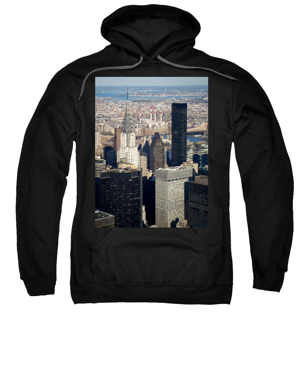 Crystler Building Sweatshirt featuring the photograph Crystler Building by Anita Burgermeister