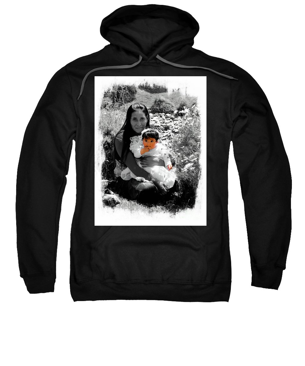 Expression Sweatshirt featuring the photograph Cuenca Kids 1017 by Al Bourassa
