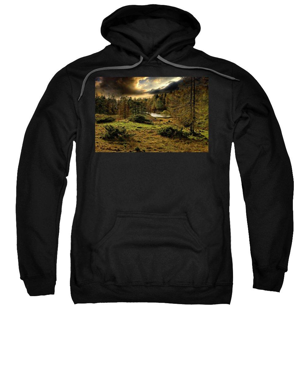 Cumbria Sweatshirt featuring the photograph Cumbrian Drama by Meirion Matthias