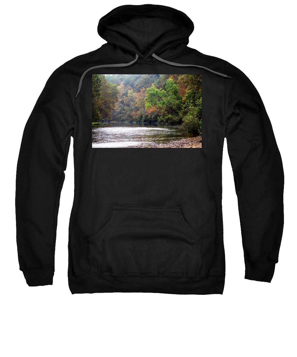 Current River Sweatshirt featuring the photograph Current River Fall by Marty Koch