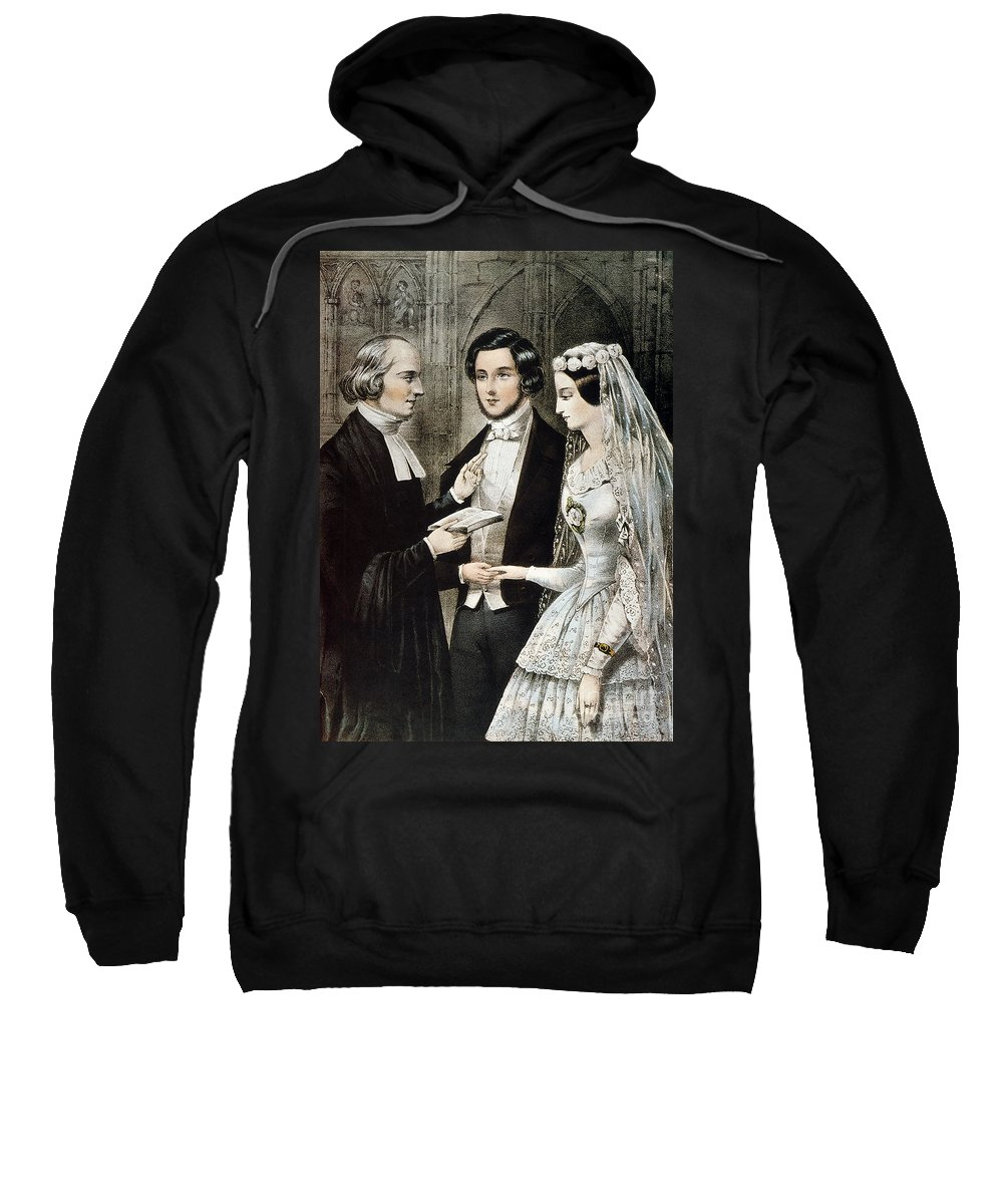 1847 Sweatshirt featuring the photograph Currier: The Marriage by Granger