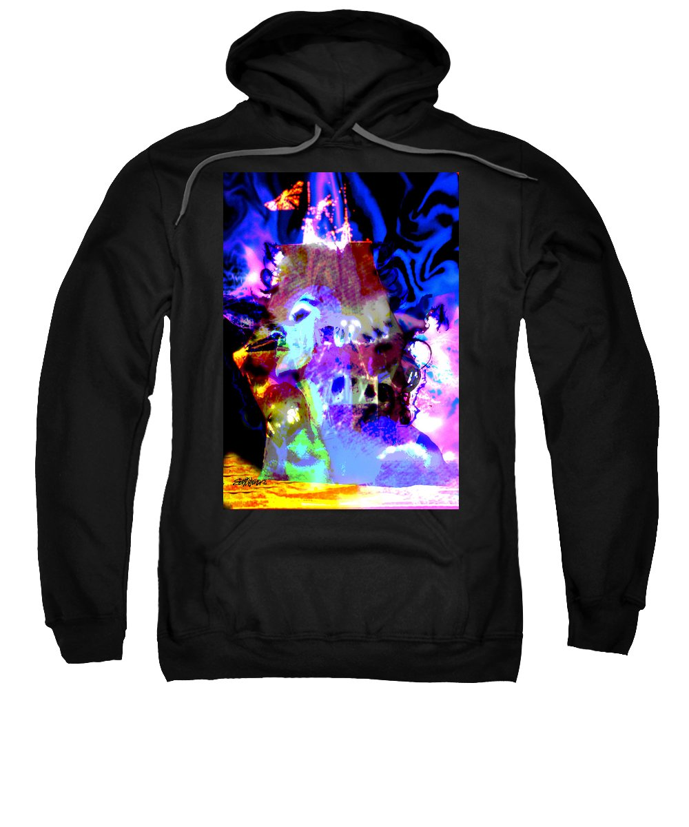 Sea Sweatshirt featuring the digital art Curse Of The Sea Witch by Seth Weaver