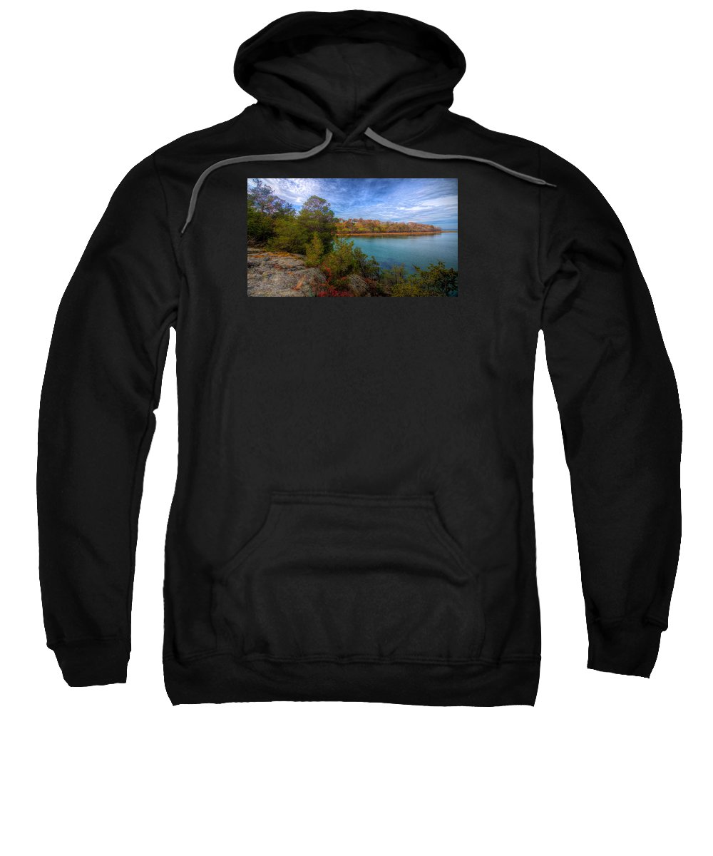 New England Sweatshirt featuring the photograph Curve At The End by David Henningsen