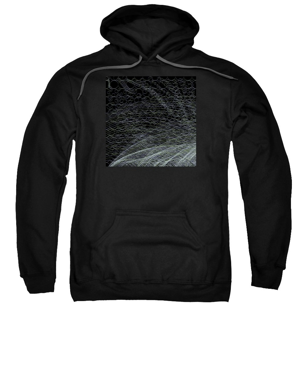 Abstract Sweatshirt featuring the digital art Curves.1.11 by Gareth Lewis