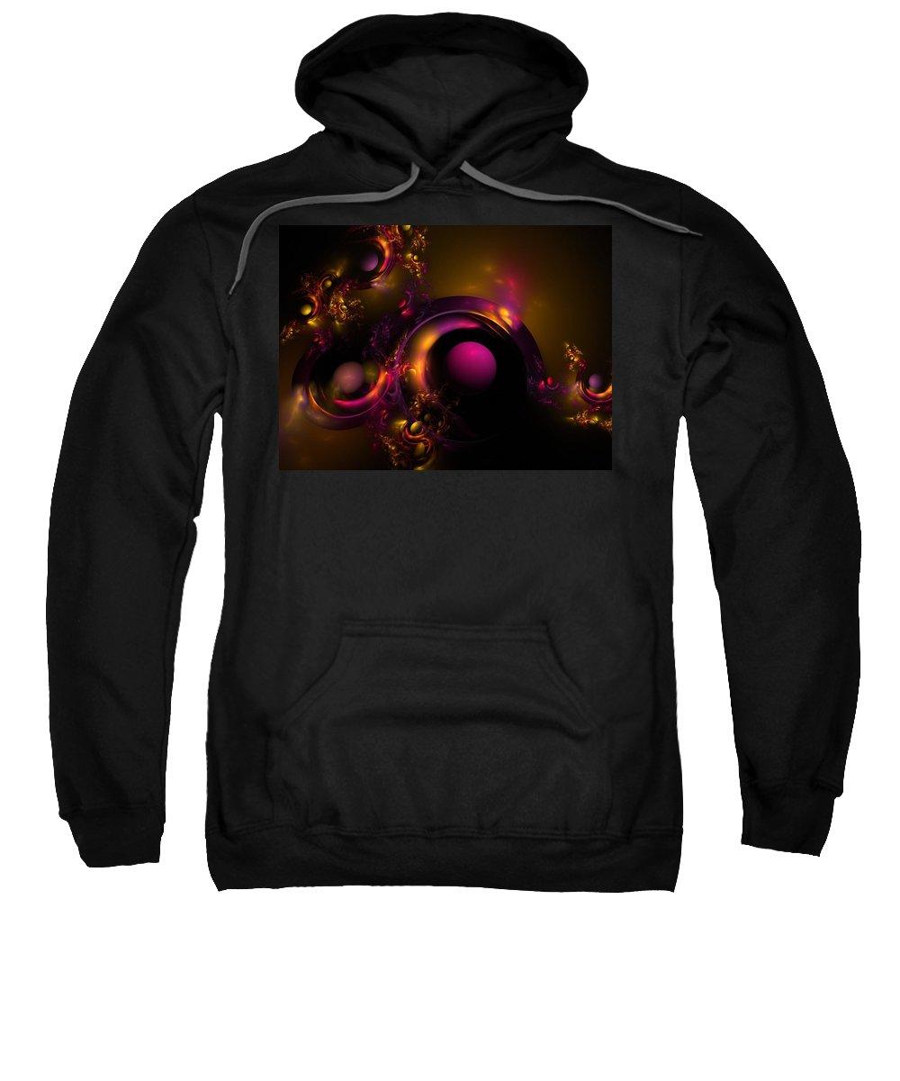 Fractal Sweatshirt featuring the digital art Curvy Baby by Lyle Hatch
