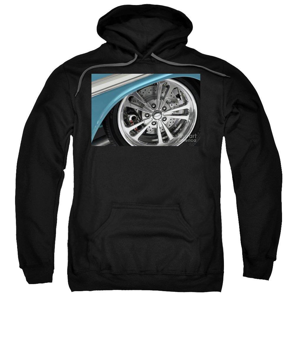 Wheel Sweatshirt featuring the photograph Custom Car Wheel by Oleksiy Maksymenko