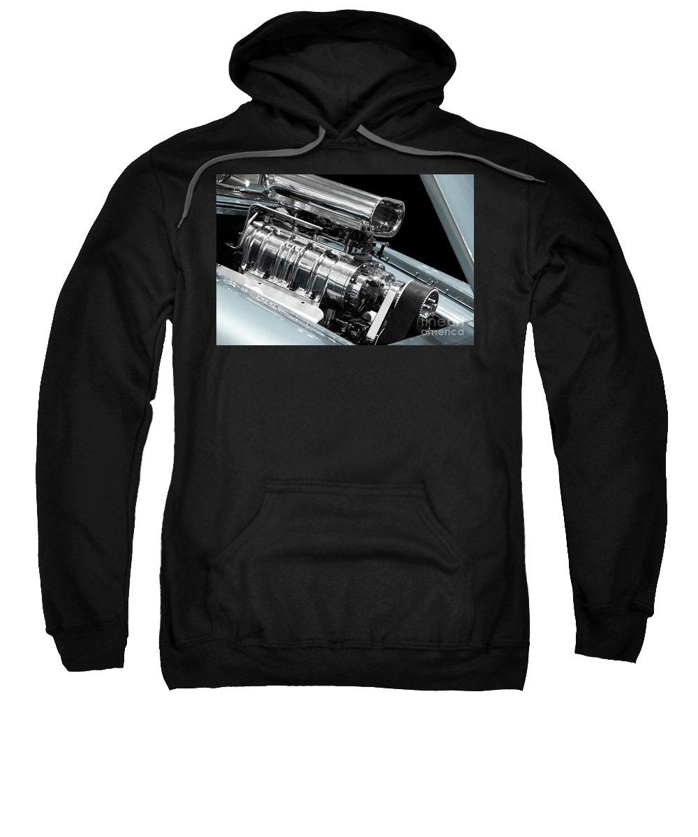 Engine Sweatshirt featuring the photograph Custom Racing Car Engine by Oleksiy Maksymenko