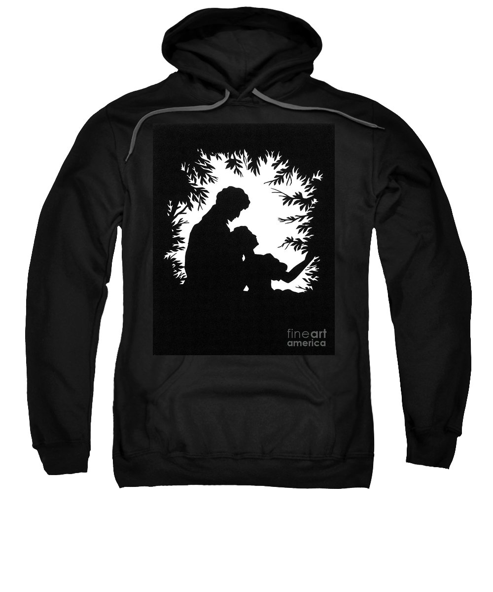 19th Century Sweatshirt featuring the photograph Cut-paper Silhouette by Granger