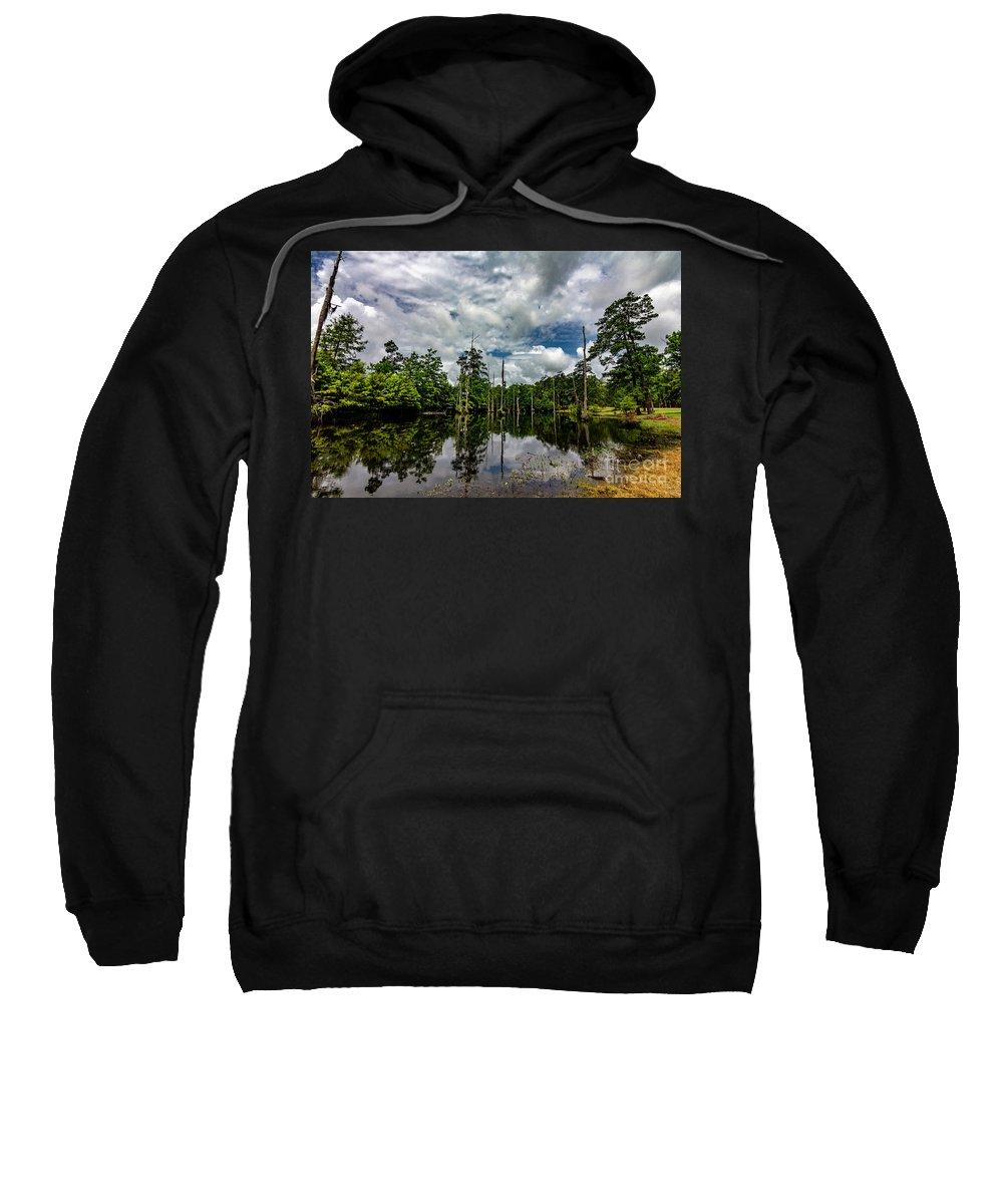 Park Sweatshirt featuring the photograph Cypress Pond by Ken Frischkorn