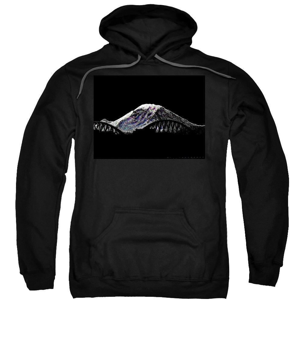 Mount Rainier Sweatshirt featuring the digital art Da Mountain And Stadia by Tim Allen