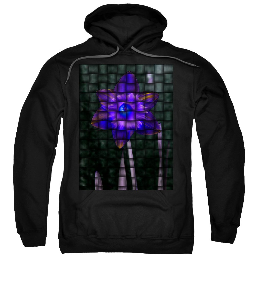 Daffodil Sweatshirt featuring the photograph Daffodil Weave 2 by Tim Allen