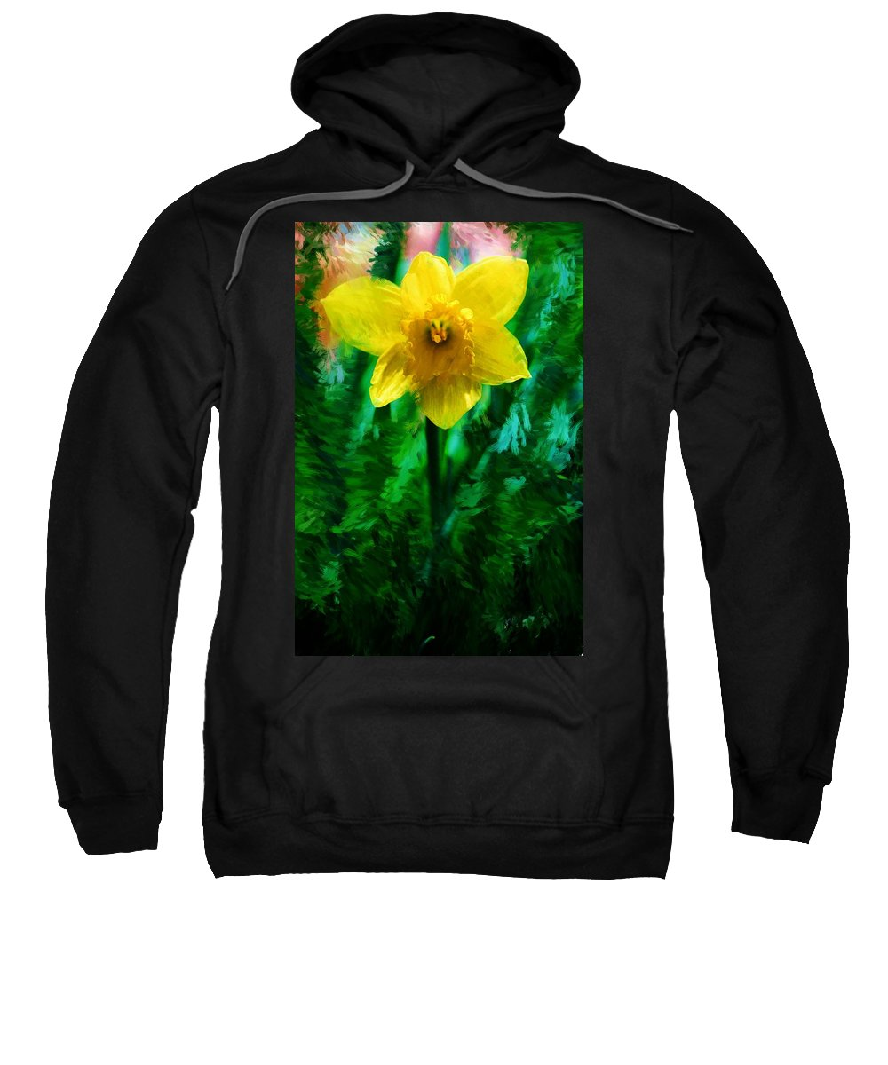 Abstract Sweatshirt featuring the photograph Daffy Dill by David Lane