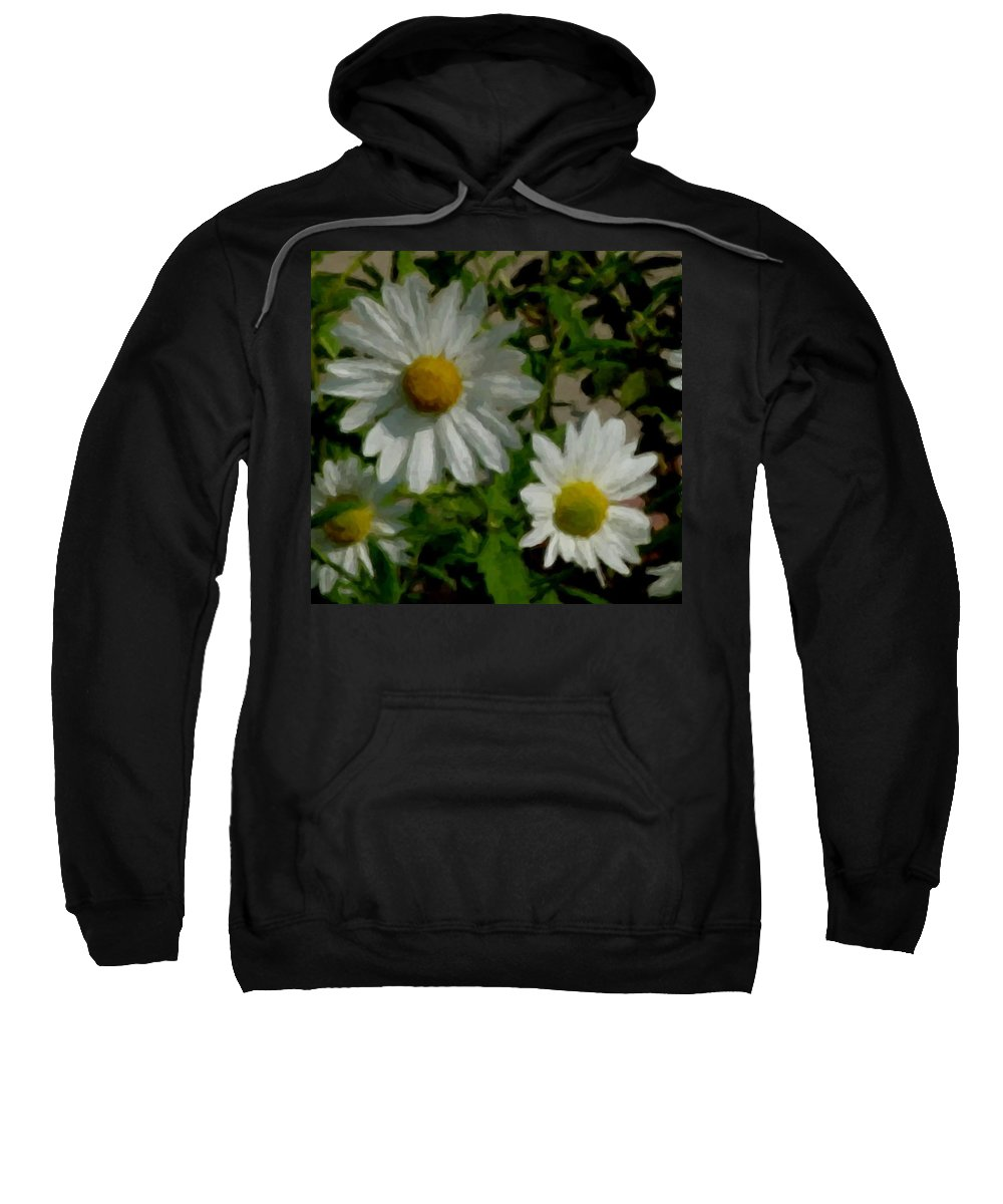 Daisy Sweatshirt featuring the digital art Daisies By The Number by Anita Burgermeister