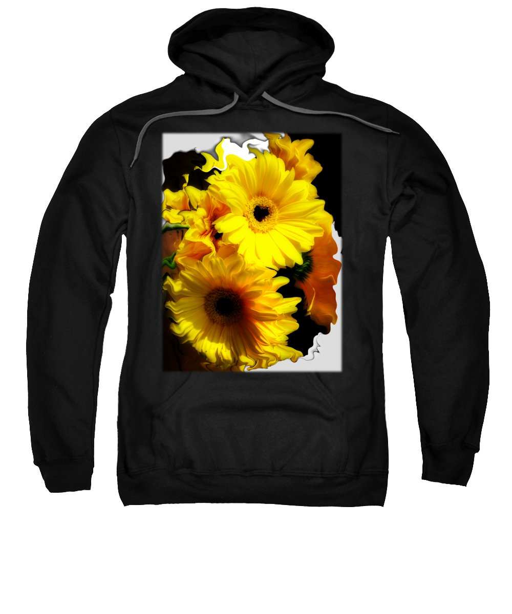 Abstract Floral Bouquet Sweatshirt featuring the photograph Daisy Daisy by Kathy Moll