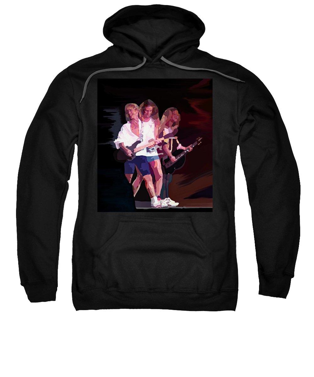 80's Music Sweatshirt featuring the digital art Damn Yankees 1 by Ginger Repke