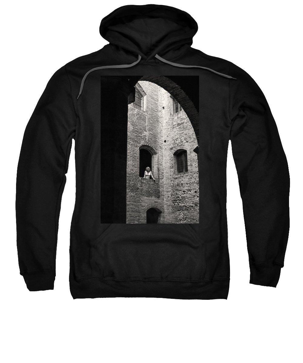 Damsel Sweatshirt featuring the photograph Damsel Non Distressed by Joseph Yvon Cote