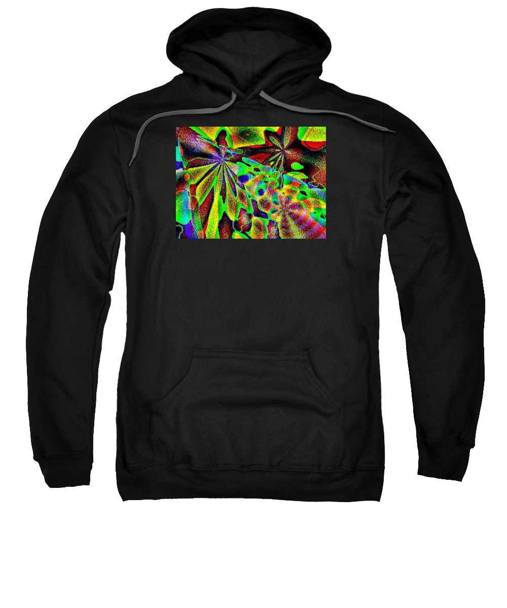 Computer Art Sweatshirt featuring the digital art Damselwing by Dave Martsolf