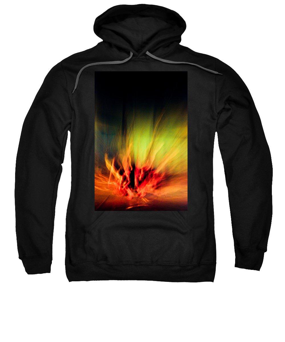 Abstract Sweatshirt featuring the photograph Dance Flower by Scott Sawyer